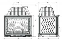 Топка W-17 Dekor 16,1 кВт EKO