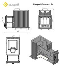 Печь для бани Эверест 24 (280) Президент Пироксенит