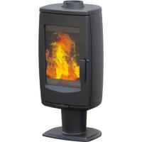 Чугунная печь-камин Aria черная