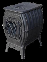 Печь-камин чугунная Бахта черная
