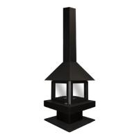 Островной камин Эклипс 4D черный Экокамин