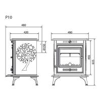 Печь-камин чугунная P-10