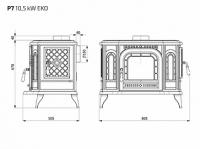 Печь-камин чугунная P-7 Kaw-Met