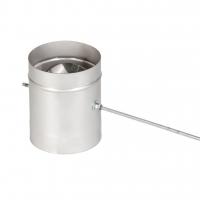 Шибер поворотный для камина 115 мм 321 нерж 0.8 мм