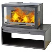 Чугунная печь-камин ECO MINIMAL 50,черная PLAMEN