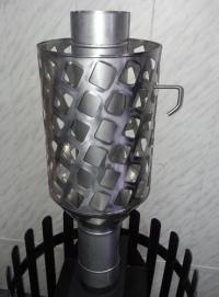 Труба сетка с шибером